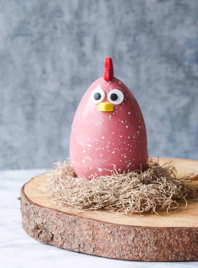 Pink funny bird - Easter Egg
