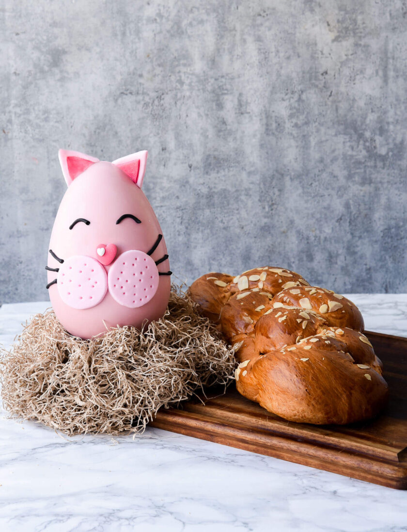 Easter egg and tsoureki