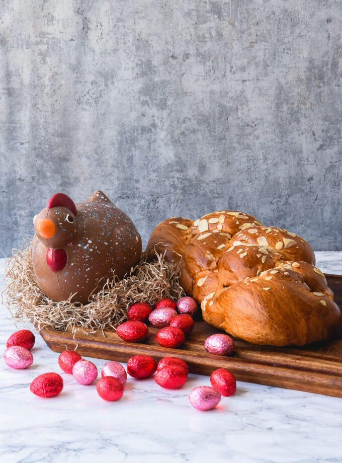 Chicken + Tsoureki