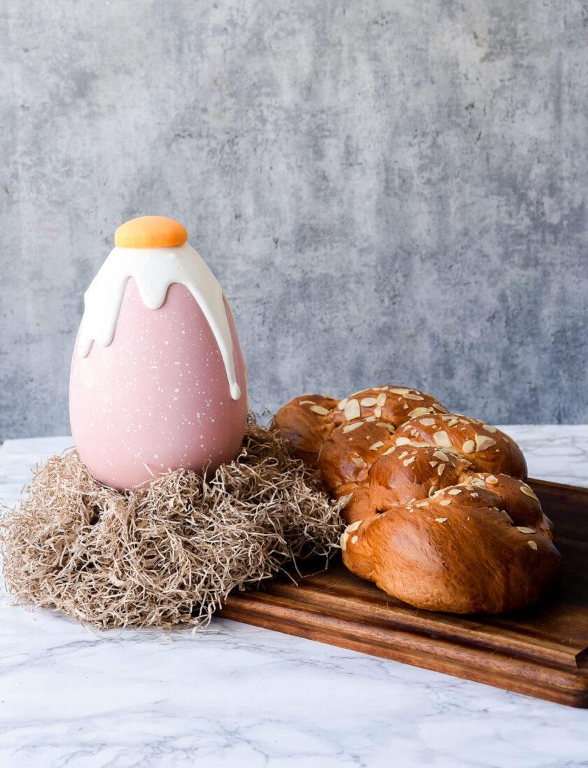 Pink Fried Egg + tsoureki