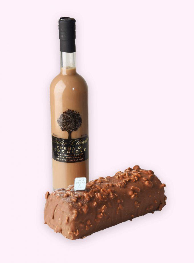 Choco-Caramel-Peanuts Semifreddo & Nocciola Liqueur